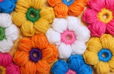 6 Petal Puff Stitch Flower