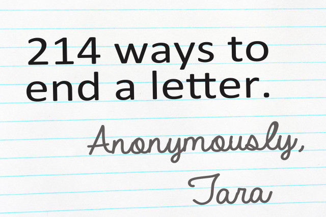 214 ways the end a letter